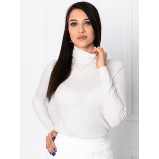 Edoti Womens polo neck ELR004 dámské Ecru One size