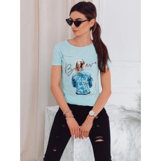 Edoti Womens printed t-shirt SLR009 dámské Mint S