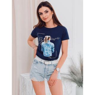 Edoti Womens printed t-shirt SLR009 dámské Navy S