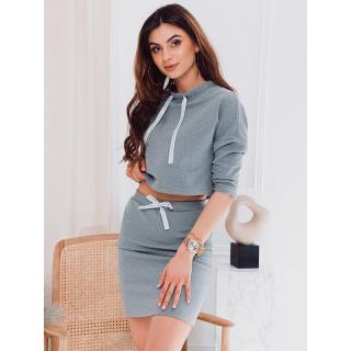 Edoti Womens set skirt   blouse ZLR002 dámské Grey XS