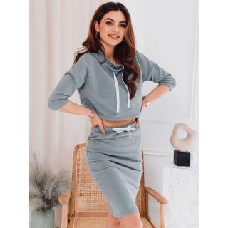 Edoti Womens set skirt   blouse ZLR003 dámské Grey XS