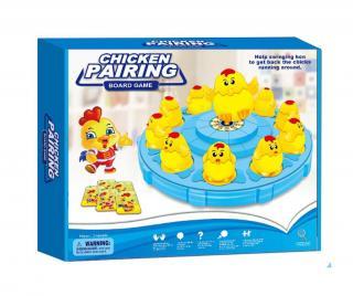 Edukačná hra Chicken Pairing Pestrofarebná