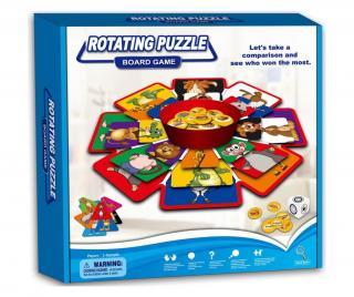 Edukačná hra Rotating Puzzle Pestrofarebná