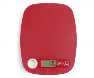 Elektronická kuchynská váha Červená