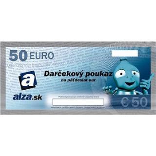 Elektronický darčekový poukaz Alza.sk na nákup tovaru v hodnote 50 €