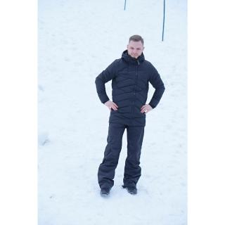 ELLANDA - pánský zateplený kabát - black pánské Neurčeno S