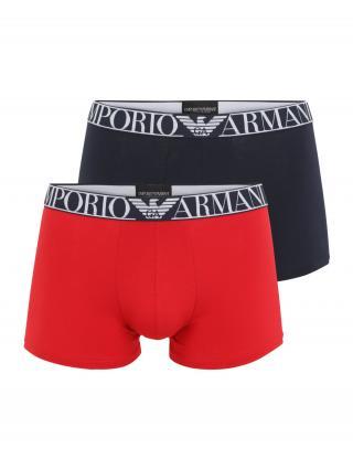 Emporio Armani Boxerky  červená / námornícka modrá / biela pánské S