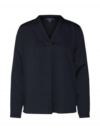 Esprit Collection Blúzka New floaty satin  čierna dámské XS