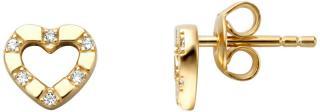 Esprit Romantické pozlátené náušnice kôstky so zirkónmi ESER01351200 dámské