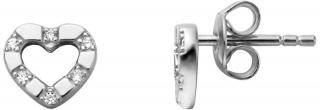 Esprit Romantické strieborné náušnice kôstky so zirkónmi ESER01351100 dámské