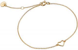 Esprit Romantický pozlátený náramok zo striebra so srdiečkom ESBR01371217 dámské