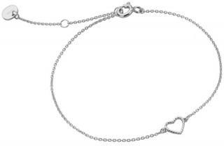Esprit Romantický strieborný náramok so srdiečkom ESBR01371117 dámské