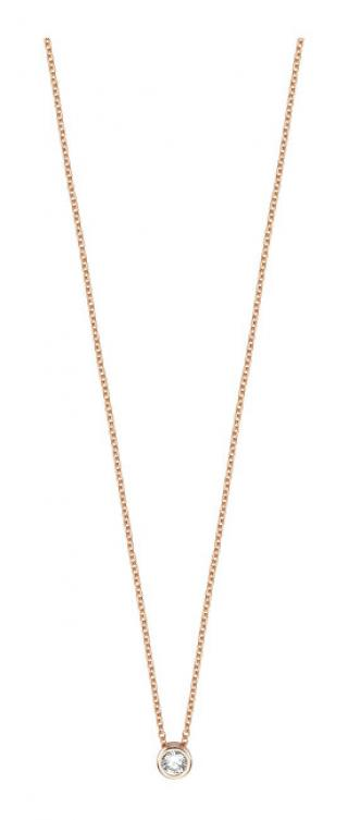 Esprit Ružovo pozlátený strieborný náhrdelník ESNL00791342