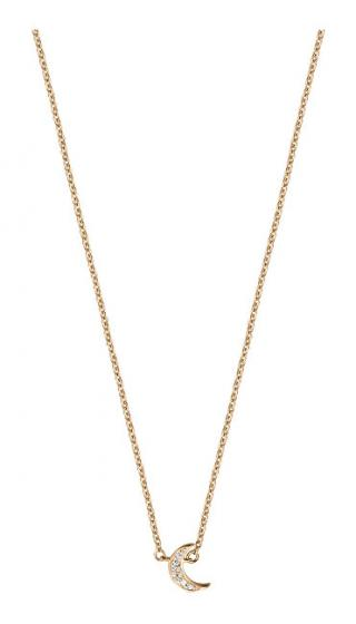 Esprit Ružovo pozlátený strieborný náhrdelník s polmesiacom ESNL00921242