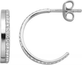 Esprit Strieborné náušnice krúžky s kryštálmi ESER00941100 dámské