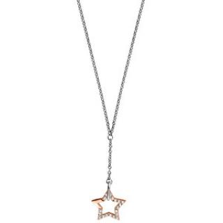 Esprit Strieborný náhrdelník s hviezdou Vivid Star ESNL00451342