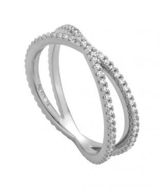 Esprit Strieborný prsteň so zirkónmi ESRG010611 1,6 cm