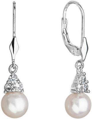 Evolution Group Luxusné strieborné náušnice s pravými perlami 21062.1 dámské