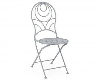 Exteriérová skladacia stolička Marlene Grey Sivá & Striebristá
