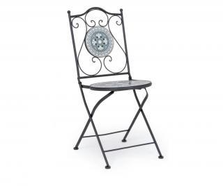 Exteriérová skladacia stolička Micerino Čierna