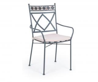 Exteriérová stolička Berkley Sivá & Striebristá