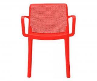 Exteriérová stolička Červená