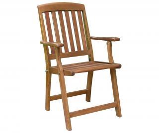 Exteriérová stolička Portland Hnedá