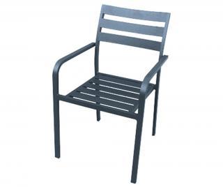 Exteriérová stolička Treviso Hnedá