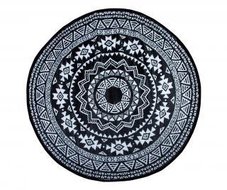 Exteriérový koberec Phoebe 180 cm Čierna 180 cm