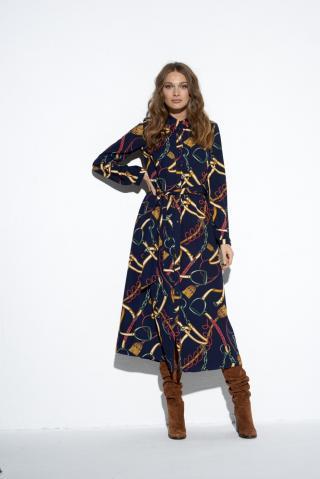 Ezuri Womans Dress 5488 Multicolour dámské wzorzysty 36
