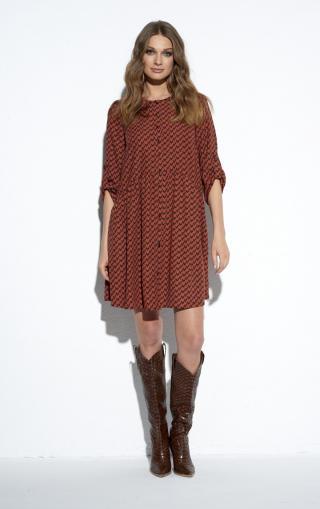 Ezuri Womans Dress 5489 Multicolour dámské wzorzysty 36