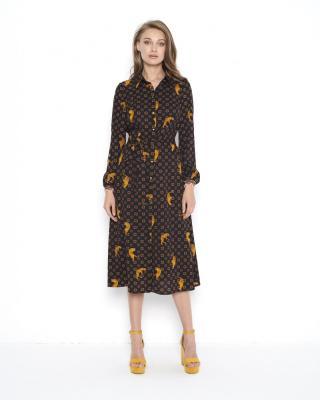 Ezuri Womans Dress 5655 dámské Brown 36