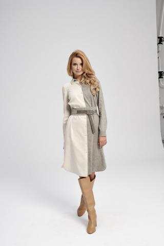 Ezuri Womans Dress 5704 dámské Beige 34