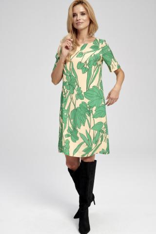 Ezuri Womans Dress 5754 Multicolour dámské wzorzysty 40