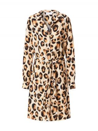 Fabienne Chapot Košeľové šaty Dorien  béžová / hnedá / čokoládová dámské 40