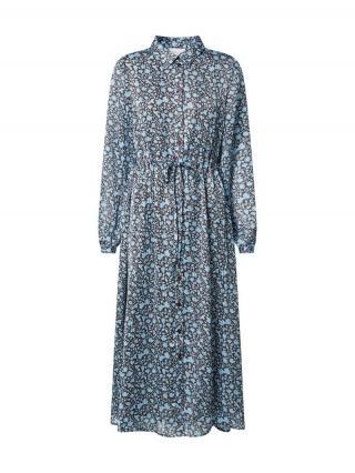 Fabienne Chapot Košeľové šaty Frida  hnedá / svetlomodrá dámské 36