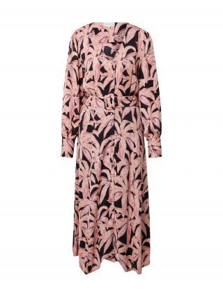 Fabienne Chapot Košeľové šaty Suraya Isa  ružová / čierna / rosé / staroružová / zlatá žltá dámské 34