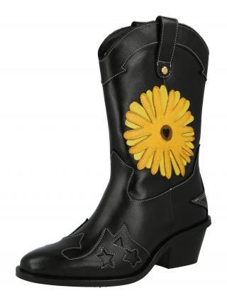 Fabienne Chapot Kovbojské čižmy Jolly  žltá / čierna dámské 36