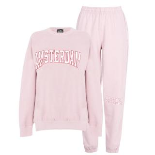 Fabric City Washed Sweatshirt and Jogger Tracksuit Co Ord Set dámské Other L