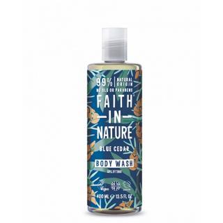 Faith in Nature Prírodné sprchový gél Modrý céder  400 ml pánské