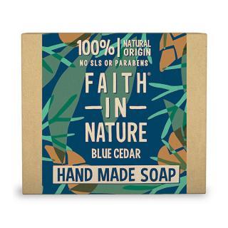 Faith in Nature Prírodné tuhé mydlo Modrý céder  100 g pánské