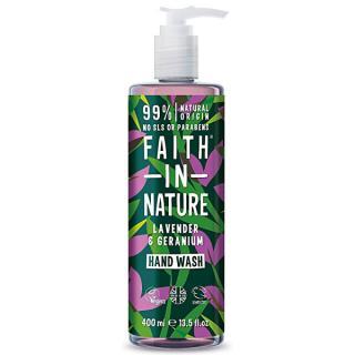 Faith in Nature Tekuté mydlo na ruky Levandule a pelargónie  400 ml