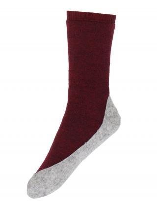 FALKE Ponožky Cosyshoe  sivá / bordová dámské 37-38