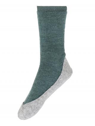 FALKE Ponožky Cosyshoe  zelená / sivá dámské 37-38