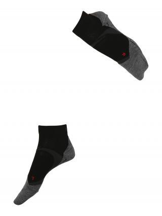 FALKE Športové ponožky  čierna / sivá melírovaná / červená dámské 35-36