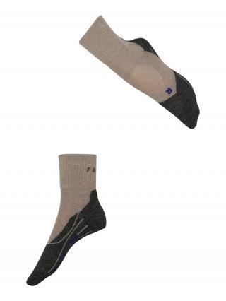 FALKE Športové ponožky  tmavobéžová / čierna melírovaná dámské 35-36