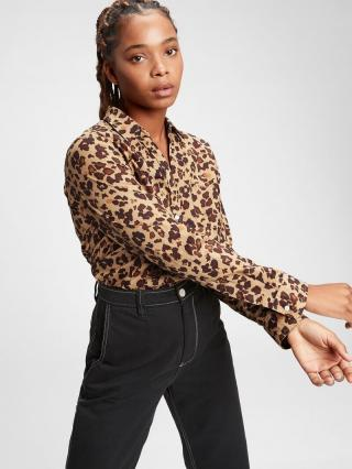 Farebná dámska košeľa GAP dámské hnedá M