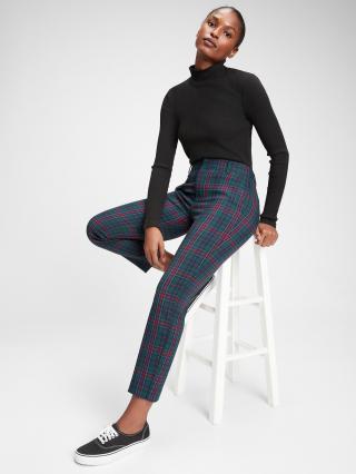 Farebné dámske nohavice GAP Slim dámské tmavozelená S-