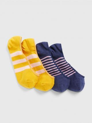 Farebné dámske ponožky GAP 2-Pack dámské tmavomodrá ONE SIZE