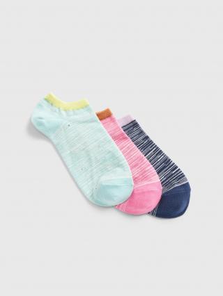 Farebné dámske ponožky GAP 3-Pack dámské modrá ONE SIZE